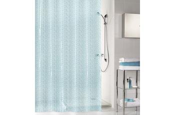 Kleine Wolke Duschvorhang Soapy, Wasserblau 180 x 200 cm