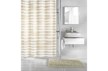 Kleine Wolke Duschvorhang Stripy, Sandbeige 180 x 200 cm