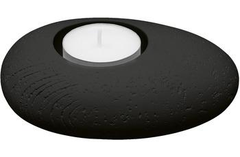 Kleine Wolke Kerzenhalter Candle Schwarz S/  8,4x3,7x11,7 cm