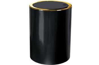 Kleine Wolke Kosmetikeimer Golden Clap, Schwarz 19x24,5x19/ 5 Liter