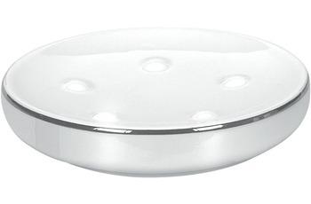 Kleine Wolke Seifenschale Noblesse, Weiss/ Silber