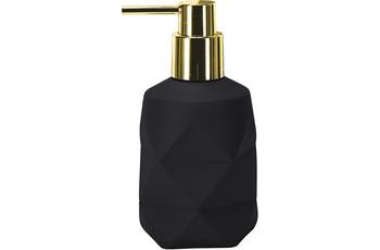 Kleine Wolke Seifenspender Golden Crackle, schwarz 8x17x8cm/ 200ml