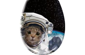Kleine Wolke WC-Sitz Cosmo Cat Multicolor 37x 45 cm