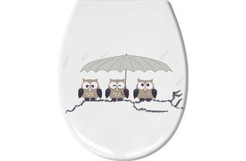 Kleine Wolke WC-Sitz Eulen, Taupe 37x 45 cm