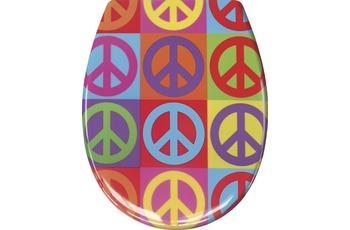 Kleine Wolke WC-Sitz Peace, Multicolor 37 x 45 cm