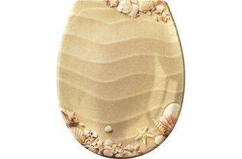Kleine Wolke WC-Sitz Sandstrand, Beige 37x 45 cm
