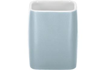Kleine Wolke Zahnputzbecher Cubic, Wasserblau 7,4x9,1x7,4/ 300ml