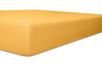 """Kneer Spannbettlaken Fein-Jersey """"Qualität 50"""", Farbe 07 gelb"""