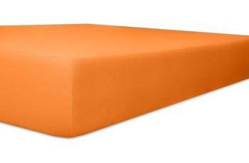 """Kneer Spannbettlaken Fein-Jersey """"Qualität 50"""" Farbe 65 orange"""
