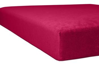 """Kneer Spannbettlaken Flausch-Frottee """"Qualität 10"""", Farbe 49 burgund"""