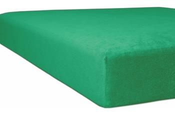 "Kneer Spannbettlaken Flausch-Frottee ""Qualität 10"", Farbe 60 smaragd"