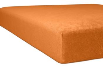 """Kneer Spannbettlaken Flausch-Frottee """"Qualität 10"""", Farbe 65 orange"""