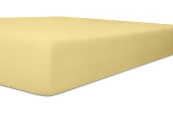 Kneer Edel-Zwirn-Jersey Spannbetttuch, Farbe 12 creme