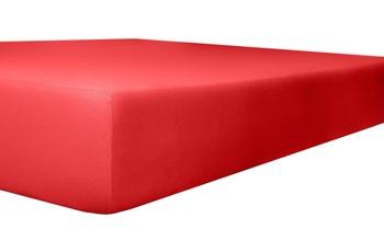 Kneer Edel-Zwirn-Jersey Spannbetttuch, Farbe 42 rubin