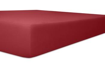 Kneer Easy Stretch Spannbetttuch, Farbe 48 karmin