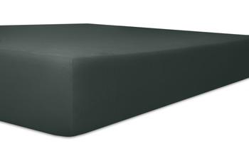 Kneer Edel-Zwirn-Jersey Spannbetttuch, Farbe 82 schwarz