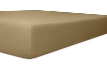 Kneer Easy Stretch Spannbetttuch, Farbe 88 toffee