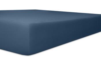 """Kneer Spannbetttuch Single-Jersey """"Qualität 60"""" Farbe 32 marine"""