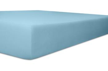 """Kneer Spannbetttuch Single-Jersey """"Qualität 60"""", Farbe 36 blau"""