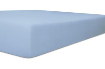 """Kneer Spannbetttuch Single-Jersey """"Qualität 60"""", Farbe 38 eisblau"""