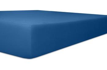 """Kneer Spannbetttuch Single-Jersey """"Qualität 60"""" Farbe 40 kobalt"""