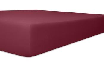 """Kneer Spannbetttuch Single-Jersey """"Qualität 60"""", Farbe 49 burgund"""