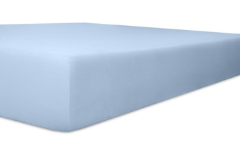 "Kneer Spannbetttuch Single-Jersey ""Qualität 60"" Farbe 63 hellblau"