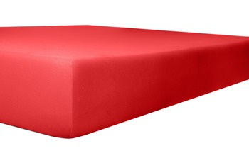"""Kneer Spannbetttuch Jersey """"Qualität 20"""", Farbe 42 rubin"""