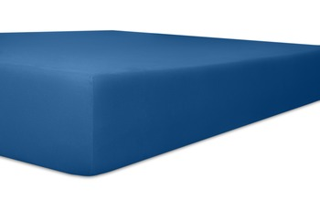 """Kneer Spannbetttuch Exclusive-Stretch """"Qualität 93"""" Farbe 40 kobalt"""