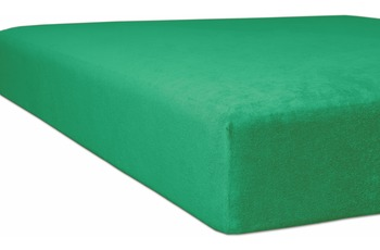 "Kneer Spannbetttuch Flausch-Biber ""Qualität 80"", Farbe 60 smaragd"