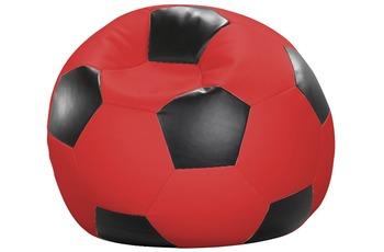 linke licardo Fußball-Sitzsack Kunstleder rot/ schwarz