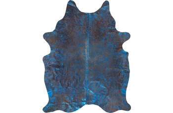 Luxor Living Rinderfell Pop Art blau-braun 3-5m² 3-5 qm