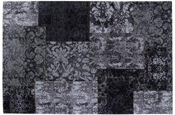Luxor Living Vintage-Teppich Barock schwarz/ weiß