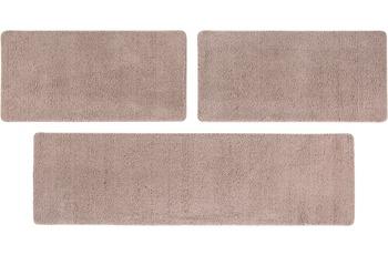 Luxor Living Teppich San Donato, taupe Bettumrandung 2x 67x140 1x 67x240