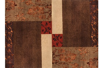 Luxor Living Nepal-Teppich Tingri braun 90 x 160 cm