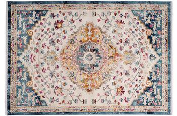 me gusta Teppich Anouk 1025 Weiß /  Blau