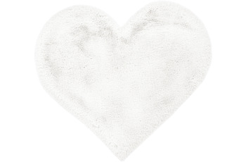 me gusta Kinderteppich Lovely Kids 1225-Heart Weiß 60 x 70 cm