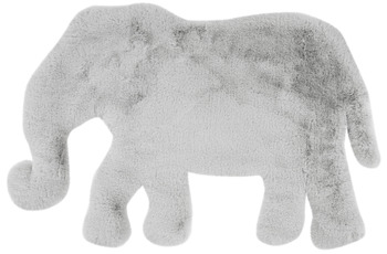 me gusta Kinderteppich Lovely Kids 125-Elephant Grau /  Blau 60 x 90 cm