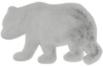 me gusta Kinderteppich Lovely Kids 225-Bear Grau /  Blau 53 x 90 cm