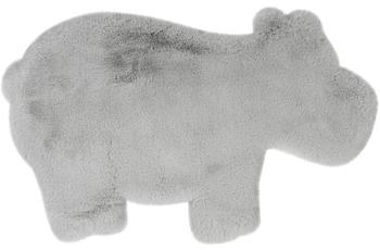 me gusta Kinderteppich Lovely Kids 325-Hippo Grau /  Blau 55 x 90 cm