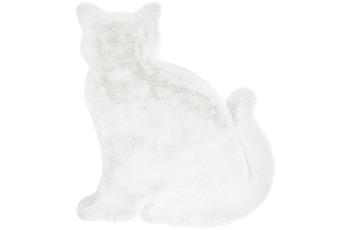 me gusta Kinderteppich Lovely Kids 625-Cat Weiß 81 x 90 cm