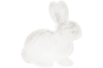 me gusta KinderKinderteppich Lovely Kids 725-Rabbit Weiß 80 x 90 cm