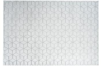 me gusta Teppich Vivica 125 Weiß /  Graublau 120 x 160 cm