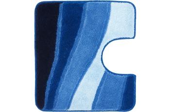 Meusch Badteppich Ocean Royalblau 55 cm x 50 cm WC-Vorleger mit Ausschnitt