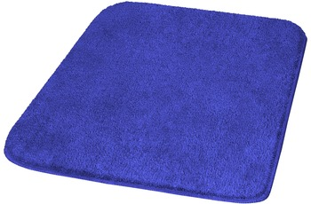 Meusch Badteppich Mona Atlantikblau 55 cm x 50 cm WC-Vorleger mit Ausschnitt