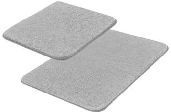 Meusch Badteppich Sascha Grau Set 2-teilig ohne Ausschnitt