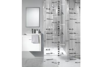 Meusch Duschvorhang Lengua,Silbergrau 180 x 200 cm
