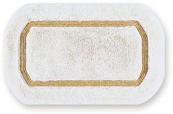 NICOL Badteppich Classic, weiss/ goldlurex