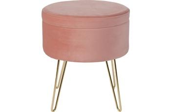 Obsession Hocker GLAMOUR STOOL 222 powder pink Ø 100 cm