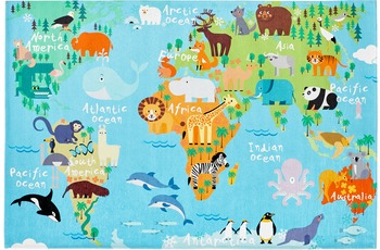 Obsession Teppich My Torino Kids 233 world map 120 x 170 cm